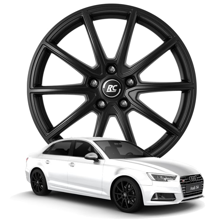 RC-Design RC32 7.5x18 5x112 ET39 ECE in Satin Black Matt (SBM) - Audi S4 (B9)