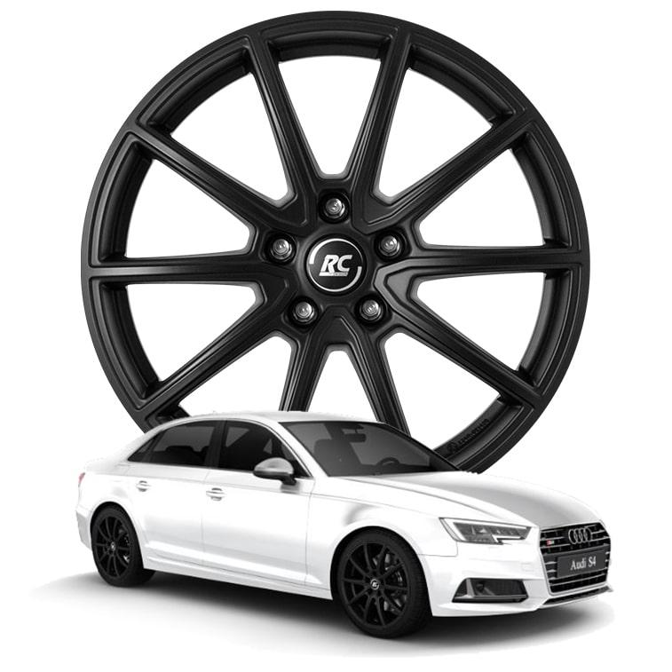 RC-Design RC32 7.5x18 5x112 ET39 ECE in Satin Black Matt (SBM) - Audi S4 (B9)