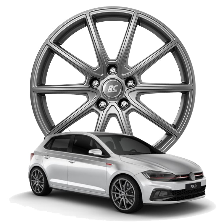 RC-Design RC32 7.5x18 5x100 ET51 ECE in Ferric Grey Matt (FGM) - VW Polo GTi (AW)