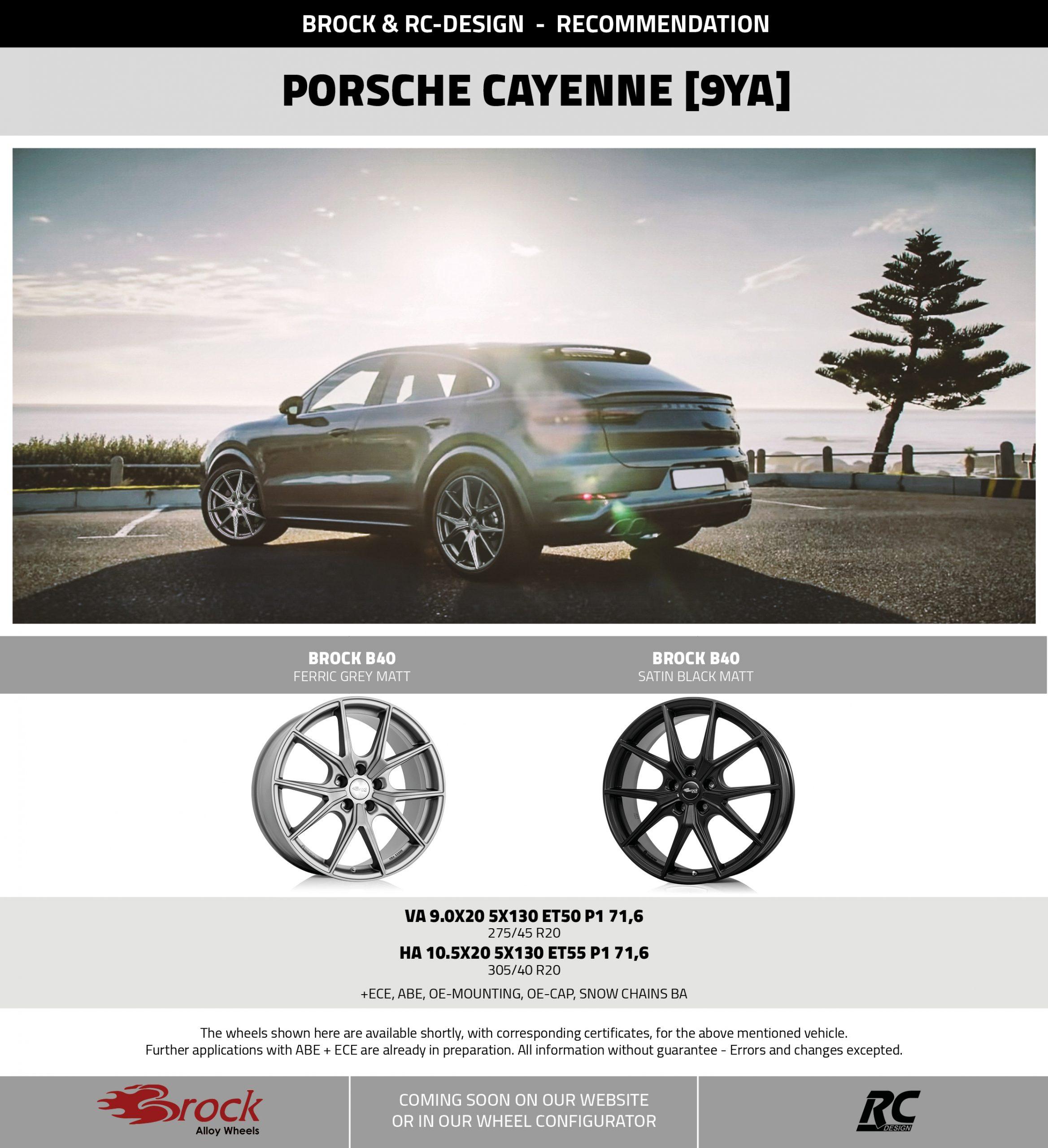 Recommendation Porsche Cayenne