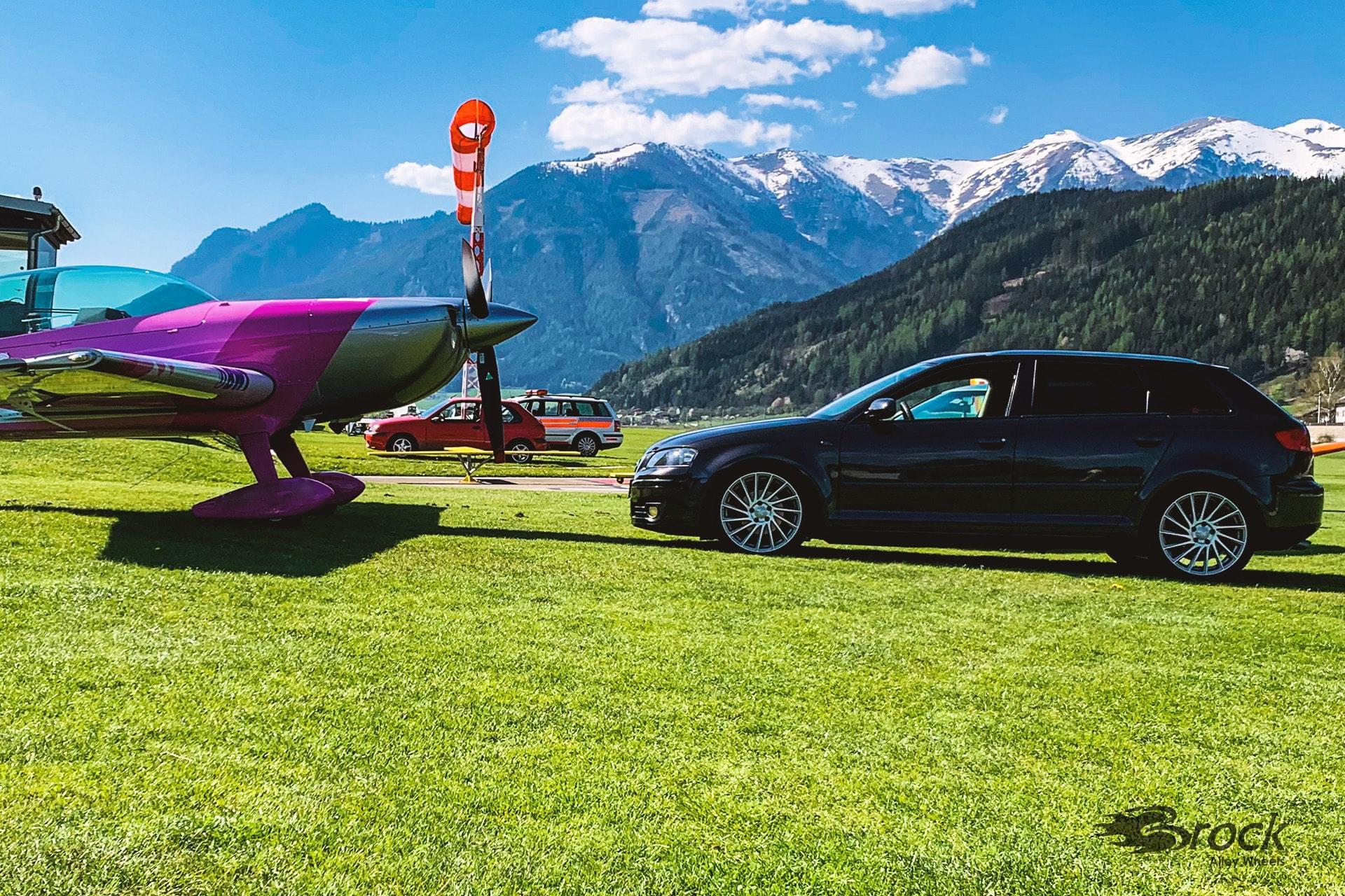 Audi A3 8P mit der Alufelge Brock B39 Ferric Grey Voll-Poliert