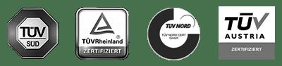 TÜV Pfürsiegel - Zertifiziert