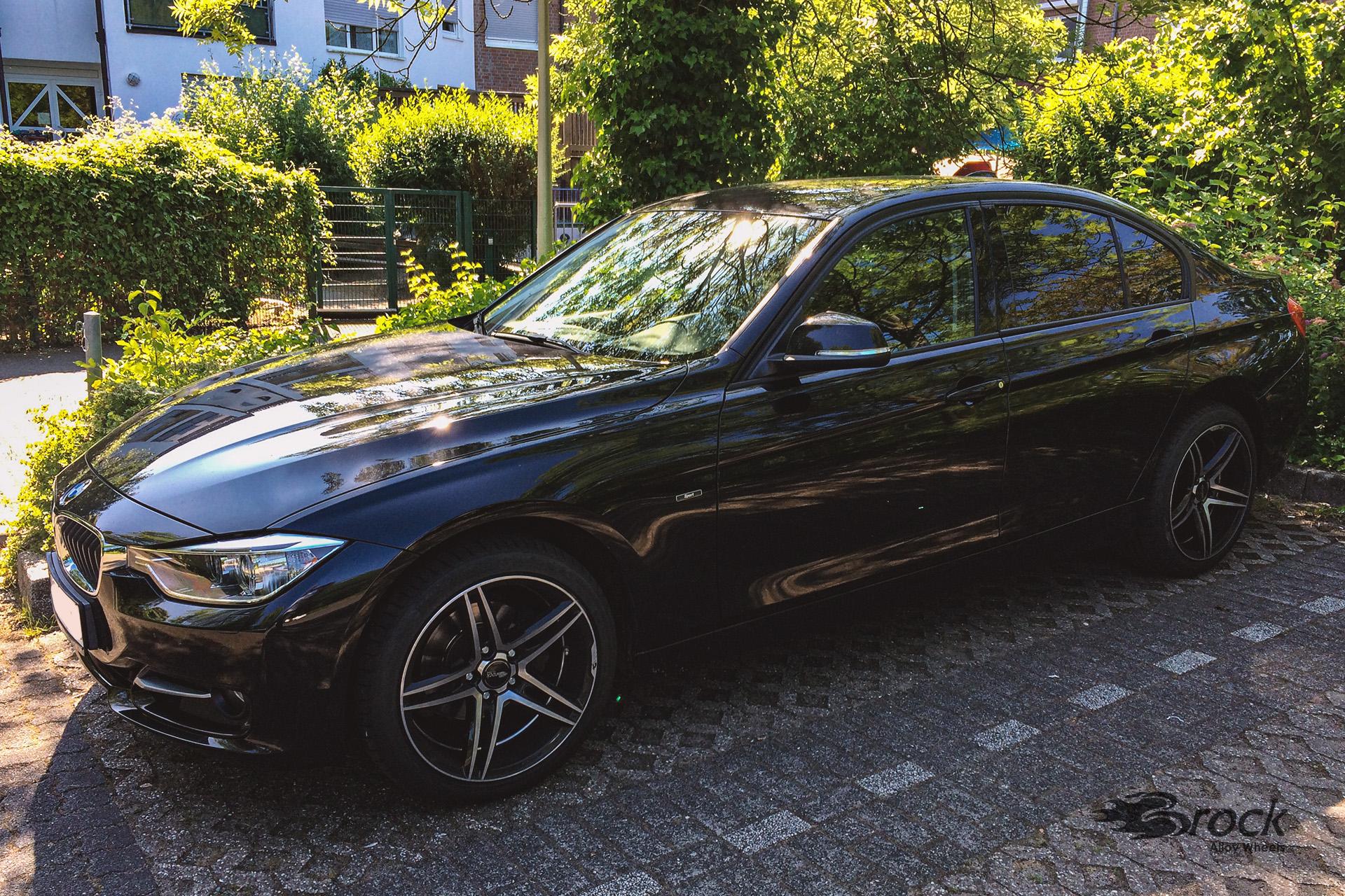 Alufelgen Brock B33 für den BMW 320i (3L/F30) in 8.5x18 mit ABE