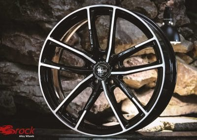 Original wheel pictures of the Brock B38 in Schwarz Glanz Voll-Poliert