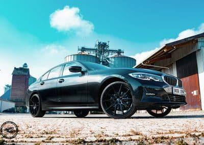 20 Zoll Leichtmetallfelgen Brock B42 für den BMW 3er in Schwarz Glanz