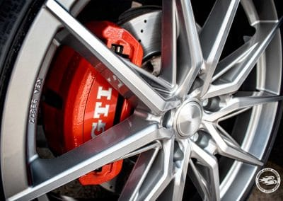 VW Golf 7 GTi (AU) mit Brock B42 Ferric Grey Poliert (FGP) Alufelgen in 8.5x20 5x112 ET45 mit 235/30R20 Bereifung