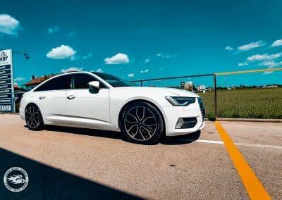 20 Zoll Brock B41 Alufelgen für den Audi A6 in Schwarz Poliert